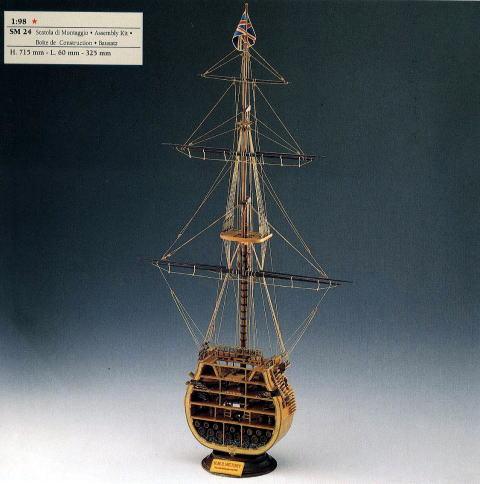 イタリア・コーレル社(SM24)HMSビクトリー号・マストセクション/(株)帆船模型スタジオM